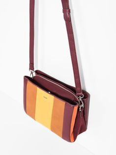 Stripy Cross Bag, Red