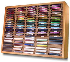 This looks like a repurposed cassette tape rack. Everything you needed to know about rubber stamp ink. Very helpful information on the numerous kinds of ink pads used for rubber stamping and crafts. Scrapbook Organization, Craft Organization, Craft Room Storage, Tape Storage, Craft Rooms, Stamp Pad, Cricut, Ink Stamps, Card Making Techniques