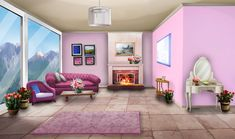 Int Rose Living Room Night In 2019 Episode Interactive Episode Interactive Backgrounds, Episode Backgrounds, Anime Backgrounds Wallpapers, Anime Scenery Wallpaper, Scenery Background, Living Room Background, Background Drawing, Animation Background, Casa Anime
