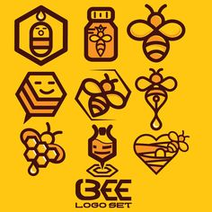 bee logo set 1