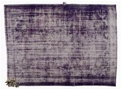 Tappeto rettangolare in stile vintage DECOLORIZED MOHAIR PURPLE - Golran