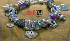 Beaded silver bracelet by elf925
