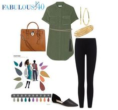 How-to-wear-pantone-dried-herb l Fabulous After 40