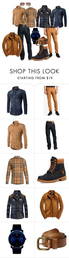 """""""Denim for Him"""" by shannon7058 ❤ liked on Polyvore featuring Levi's, Burberry, Timberland, Superdry, Movado, prAna, Tom Ford, men's fashion and menswear"""