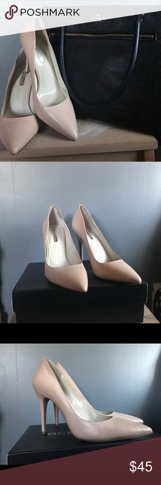 NEW BCBGeneration Nude Olso Pumps Stunning heels! Given as a gift, however they're too big! They fit a 10/40. Color (nude blush) goes with everything, making them the perfect pair of shoes for work or a night out! Never worn. Comes with box. BCBGeneration Shoes Heels