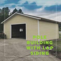 This is s pole building garage sided with lap siding to match the existing residence. We offer a number of siding options which allows a new building to seamlessly integrate with the existing structures on the property. We've built over buildings since