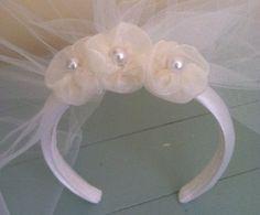 First+communion+headbands | First Communion Veil with Headband | First Communion