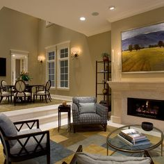 Sunken Living Room Design, Pictures, Remodel, Decor and Ideas - page 2