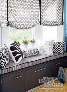 diy window treatments for bay windows