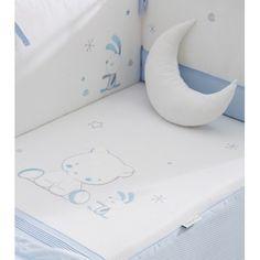 Edredón con chichonera para cuna 70 o 60 OSITO CLASS color azul Color Beige, Color Azul, Color Rosa, Bb, Pillows, Grey Colors, Blue Nails, Star Shape, Clothing