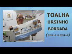 TOALHA DE BANHO COM ALPLICAÇÃO URSINHO PRA MENINO - YouTube