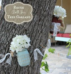 How to create a gorgeous {DIY Mason Jar Tree Garland!}