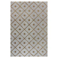 Hand-tufted wool rug in slate with a diamond trellis motif.   Product: RugConstruction Material: 100% Wool