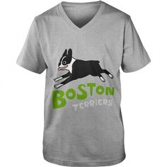 This cute design will be a great gift for you or your family Boston Terriers Dog Grandpa Grandma Dad Mom Girl Boy Guy Lady Men Women Man Woman Dog Lover Tee Shirts T-Shirts