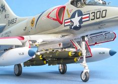 Skyhawk by David W. Scale Models, Us Navy Ships, Modeling Techniques, Model Hobbies, Navy Aircraft, Military Jets, Model Airplanes, Art Model, Vietnam War
