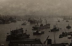002524:River Tyne North Shields unknown c.1910 | Type : Phot… | Flickr Old Pictures, Old Photos, North Shields, Local Studies, North East England, Historical Pictures, The Good Place, River