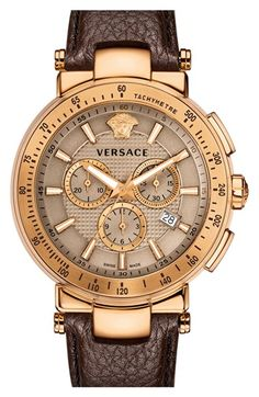 Free shipping and returns on Versace 'Mystique Sport' Chronograph Watch, 46mm at Nordstrom.com. A stunningly gored guilloche dial boasts chronograph subdials and a signature Medusa head at 12 o'clock, all surrounded by a sports-minded tachymeter bezel and protected by a scratch-resistant sapphire crystal face.