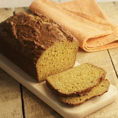 Fall is coming ... Canned pumpkin puree and whole-wheat flour come together in this healthy homemade pumpkin bread.