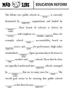 Fill out this #edreform #madlib #whpta #edchat