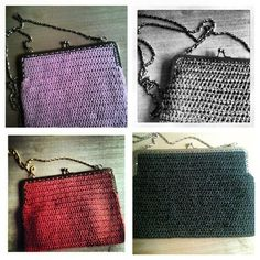 Winter'13 Accessories  Hand knitted purses with a chain