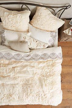 Anthropologie Georgina Duvet farmhouse bedroom. Romantic and elegant. #afflink
