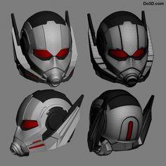 ant-man civil war helmet 3D printable model by do3d