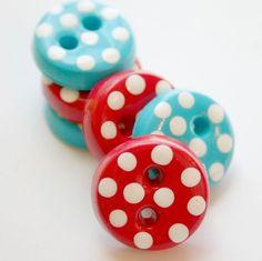 Polka dot buttons!