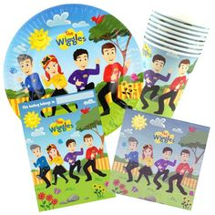 The Wiggles 40 Piece Party Pack (For 8 Guests) | Wiggles Party Supplies | [WIGPAS002] - Discount Party Supplies