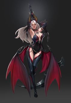 ART by Hyungseok Yang / Concept Artist Fantasy Girl, Fantasy Warrior, Dark Fantasy Art, Fantasy Women, Fantasy Artwork, Warrior Angel, Fantasy Character Design, Character Inspiration, Character Art