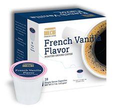 French Vanilla Premium Coffee K Cups 72 Count