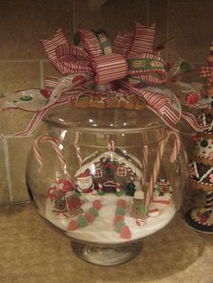 1000 images about snow villages on pinterest snow for Plastic fish bowls dollar tree