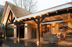Pergola For Car Parking Key: 4660621029 Backyard Retreat, Backyard Patio, Outdoor Life, Outdoor Living, Outdoor Decor, Outdoor Pavillion, Bungalow, Porch Veranda, Hacienda Style
