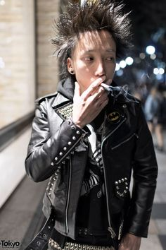 Spike Hair & Punk Jacket in Harajuku