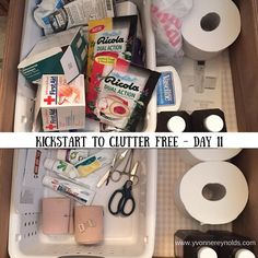 Tackled the 'medicine cabinet' on day 11 of Kathi Lipp's Kickstart to Clutter Free eCourse
