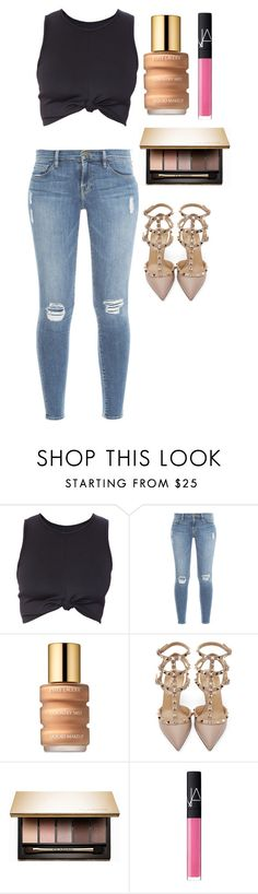 """""""Untitled #1371"""" by maddie-xxx-1 ❤ liked on Polyvore featuring Frame Denim, Estée Lauder, Valentino, Clarins and NARS Cosmetics"""