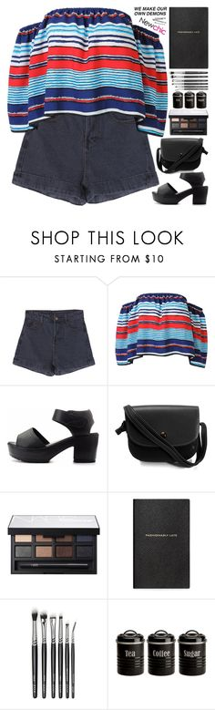 """""""demons // NewChic Style"""" by scarlett-morwenna ❤ liked on Polyvore featuring NARS Cosmetics, Smythson, Typhoon, BOBBY and vintage"""