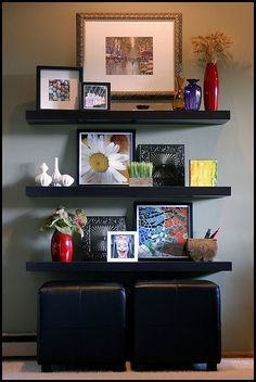 could do without the crazy picture on the bottom shelf, but otherwise really like this idea