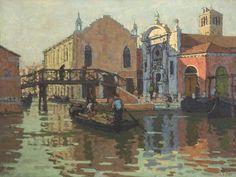 """thorsteinulf: """" Edward Le Bas - The Misericordia, Venice (c.1949) """""""