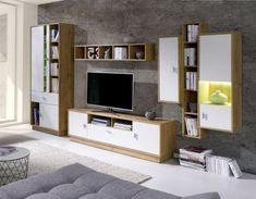 Obývací stěna Parker 2 dub lefkas/bílá Flat Screen, Furniture, Home Decor, Blood Plasma, Decoration Home, Room Decor, Flatscreen, Home Furnishings, Home Interior Design