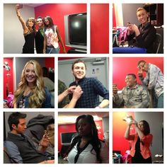 Check out the fun in the dressing room before the results show tonight!
