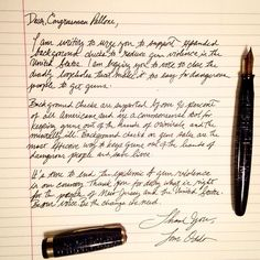 Picked up my fountain pen with a purpose tonight. Something needs to change with respect to gun control. #bethechange #guncontrol #parkerpen #vacumatic #letter #vintagepen