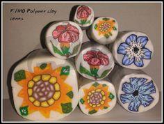 Sunflower polymer clay cane
