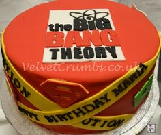 The Big Bang Theory cake. Yeah I would love this food my birthday.