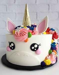 Unicorn Happy Birthday Wishes Cake With Your Name.Create Name On Birthday Wishes Cake.Cartoon Birthday Wishes Cake With Name.Best Birthday Cake Name Pix Editor Cute Cakes, Pretty Cakes, Beautiful Cakes, Amazing Cakes, Cake Cookies, Cupcake Cakes, Party Cupcakes, Fondant Cakes, Bolo Fack