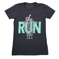 Gone For a Run Running FItted T-Shirt Short Sleeve | She ...