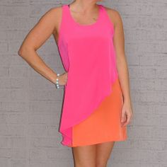 Girly Pop Colorblocking Dress | Olive Dress Boutique