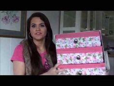 Como fazer caixa organizadora com gavetas,usando caixinhas de leite parte 1 - YouTube