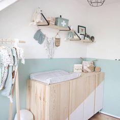 Ikea Baby Room, Ivar Ikea Hack, Ikea Ivar Cabinet, Wooden Cribs, Mint Nursery, Playroom Storage, Tv Storage, Record Storage, Kids Bedroom