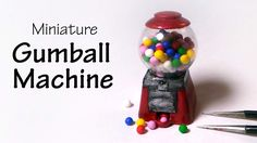 Hey Guys! Today we're making a cute and simple gumball machine that actually Works! :) You're going to need polymer clay, a glass sphere, paint, glue, and wi...