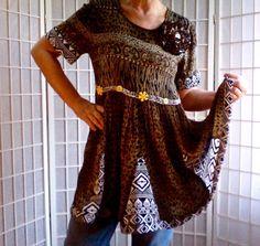 66 Feminine Mini Dress Lolita Jeans Top Women's Teen by ArtzWear
